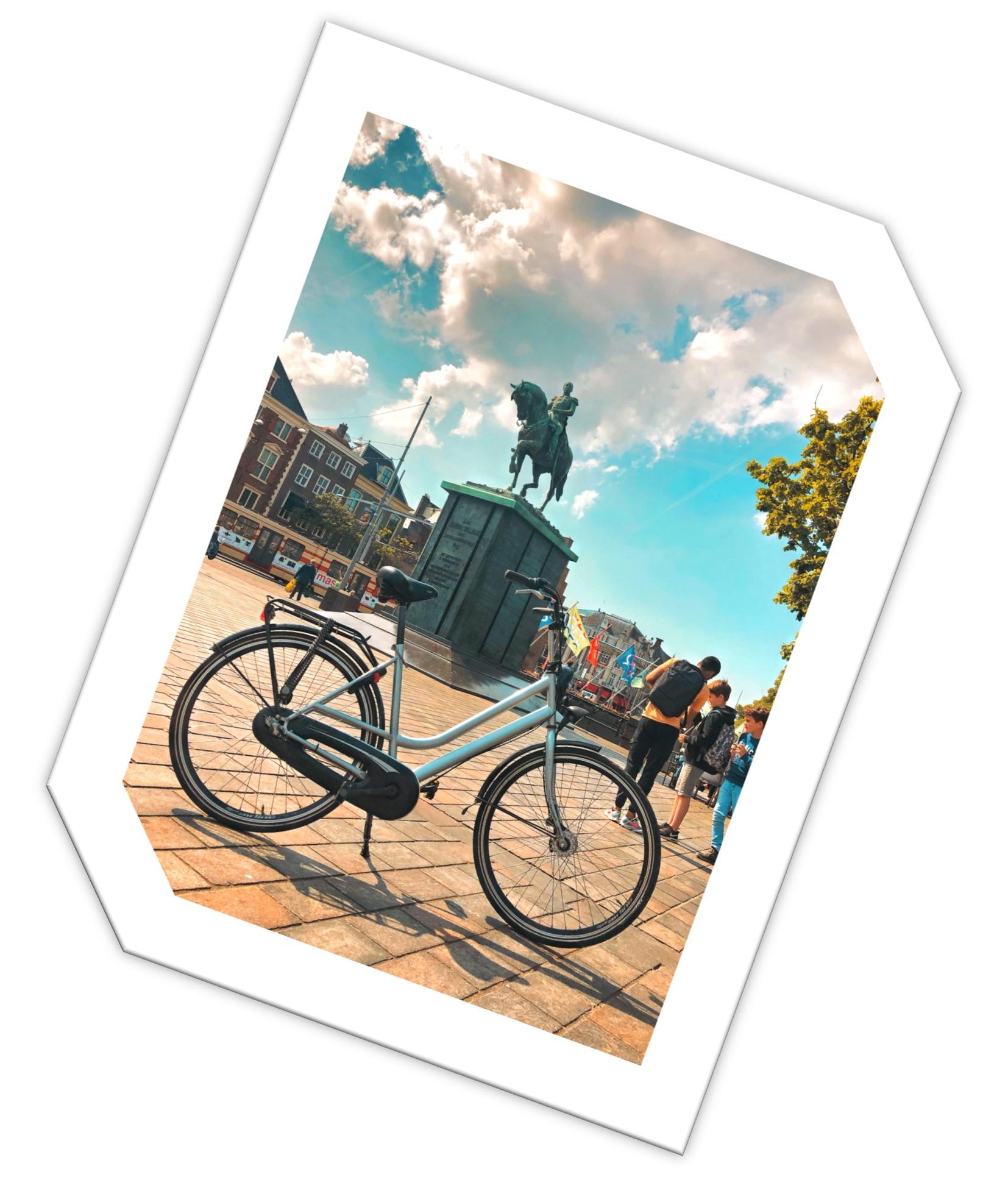 fiets over ons schijn